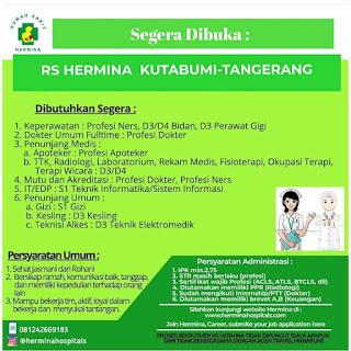 Loker Tangerang Mei 2020 - Lowongan kerja RS Hermina Tangerang Terbaru 2020