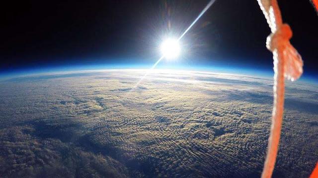 Suposta foto da curvatura tirada de alta altitude por estudandes