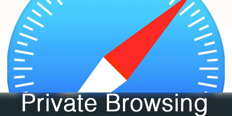 enable safari private browsing
