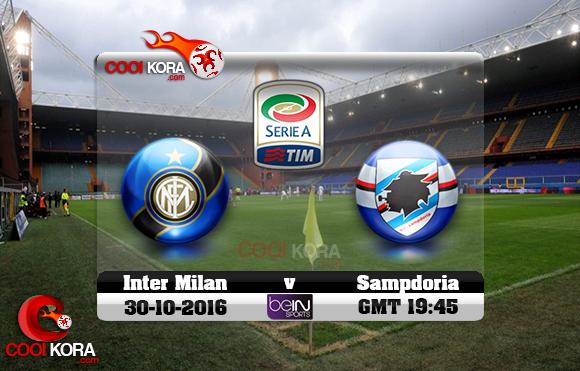 مشاهدة مباراة سامبدوريا وإنتر ميلان اليوم 30-10-2016 في الدوري الإيطالي