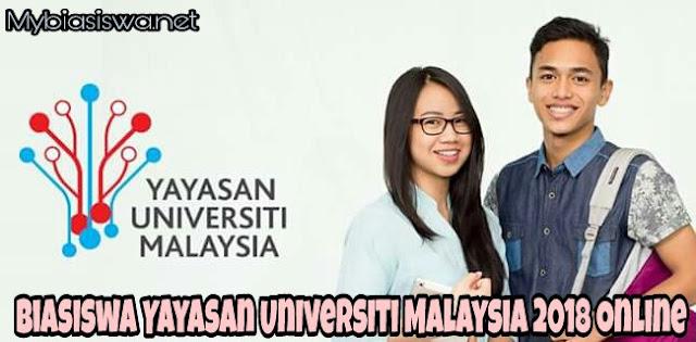 Permohonan Biasiswa Yayasan Universiti Malaysia 2018 Online
