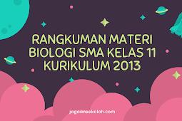 Rangkuman Materi Pelajaran Biologi SMA Kelas 11 Kurikulum 2013