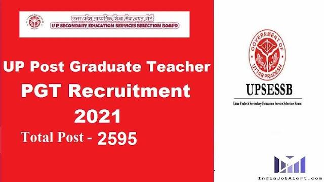 UP PGT Teacher 2021 online Apply