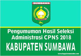 Pengumuman Hasil Seleksi Administrasi Kabupaten Sumbawa