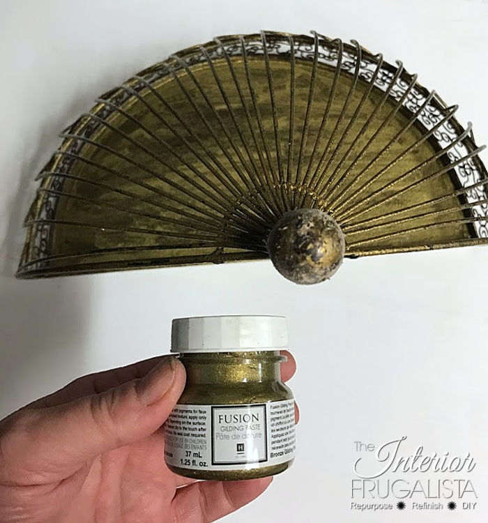 Christmas Junk Angel shelf base unified with gold gilded paste