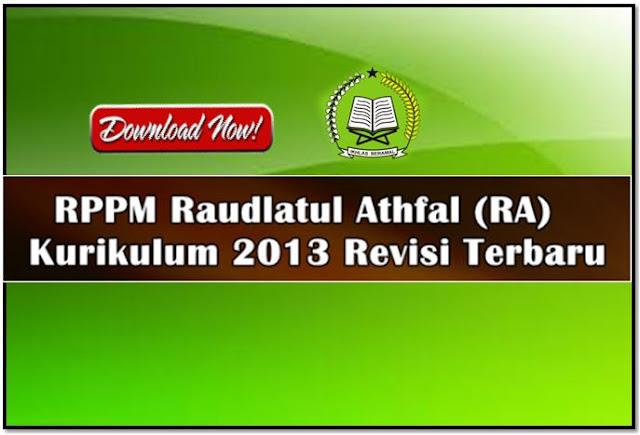 Contoh Format RPPM RA Pembelajaran Daring Kurikulum 2013 Terbaru
