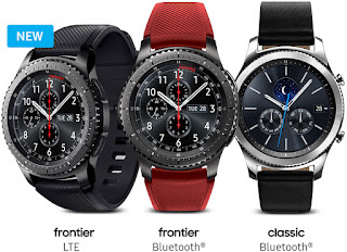 Source: Samsung website. The The Samsung Gear S3 frontier LTE smart watch works independently of a phone.