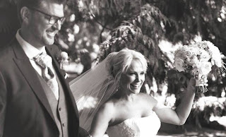 Thomas Doig and Josie in their wedding dress