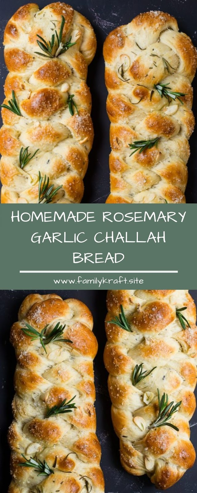 HOMEMADE ROSEMARY GARLIC CHALLAH BREAD