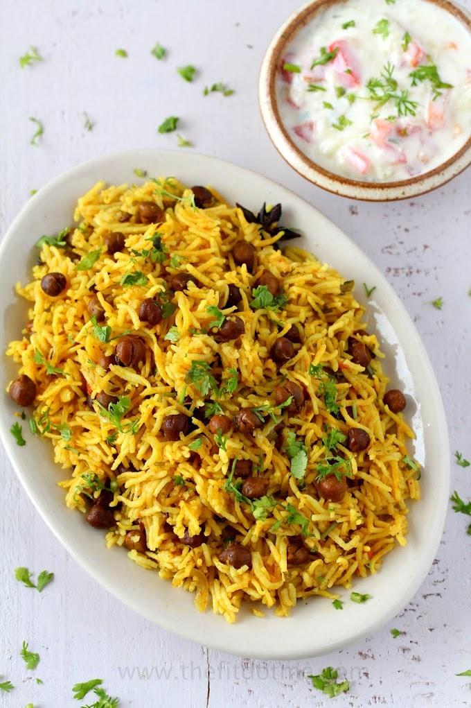 One Pot Kala Chana Pulao | One Pot Black Chickpea Pilaf