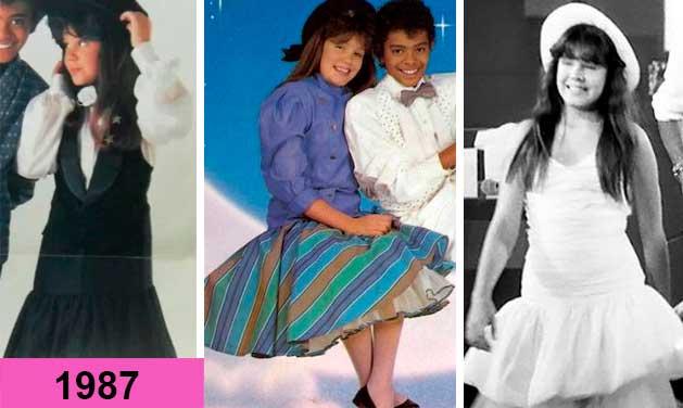 Simony e Jairzinho looks anos 80