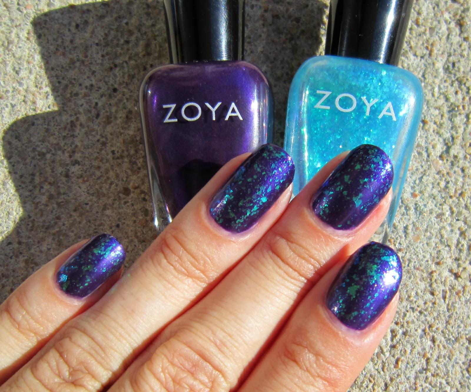 Concrete And Nail Polish Layering With Zoya Belinda Amp Maisie