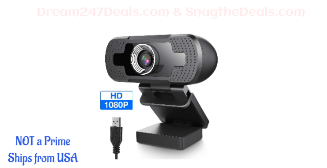 1080P HD Webcam with Microphone 35% OFF