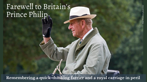 Prince Philip's brush with danger at the 2013 Royal Windsor Horse Show has almost been forgotten but it could have ended quite differently. A quick-thinking farrier was the hero that day.
