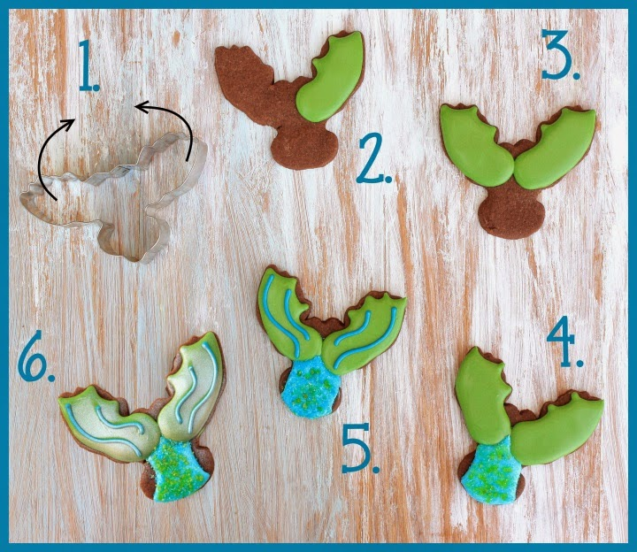 Mermaid Tail Cookies Tutorial