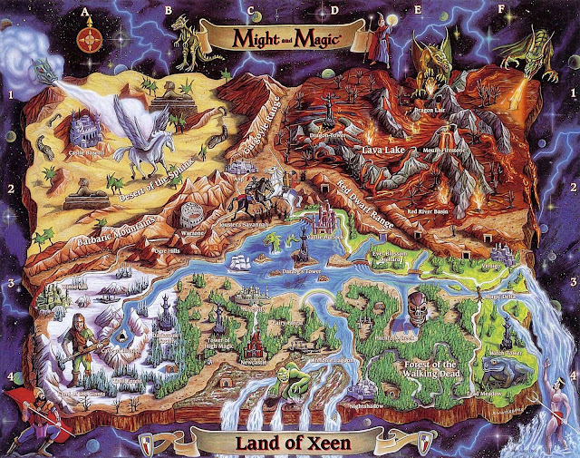 Mapa Might and Magic IV Clouds of Xeen