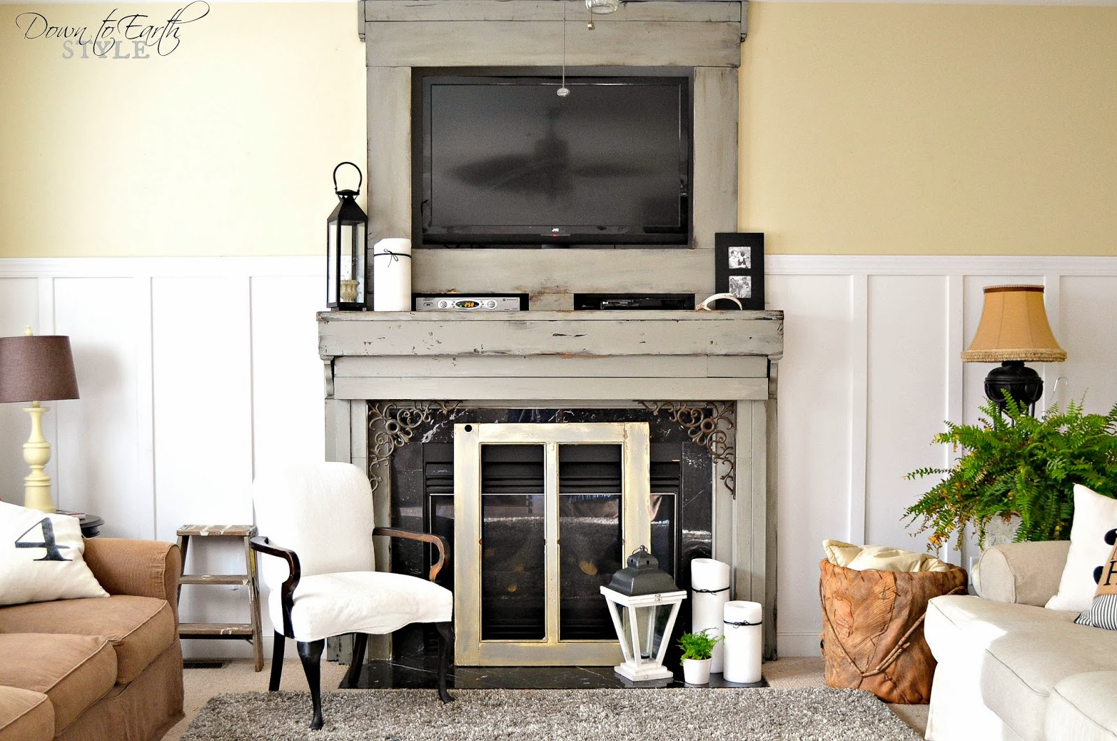 down to earth style painted u0026 chunky fireplace mantel