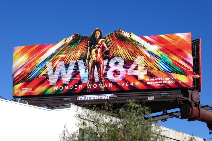 Wonder Woman 1984 wings billboard