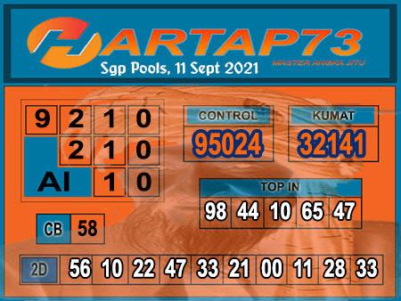 Syair SGP Sabtu 11 September 2021