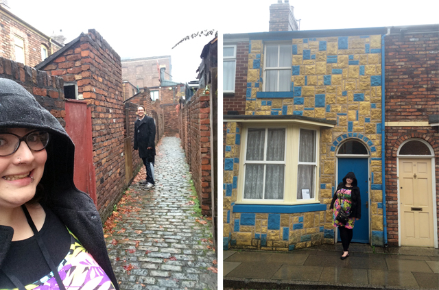 Coronation Street back alley and the Duckworth's home
