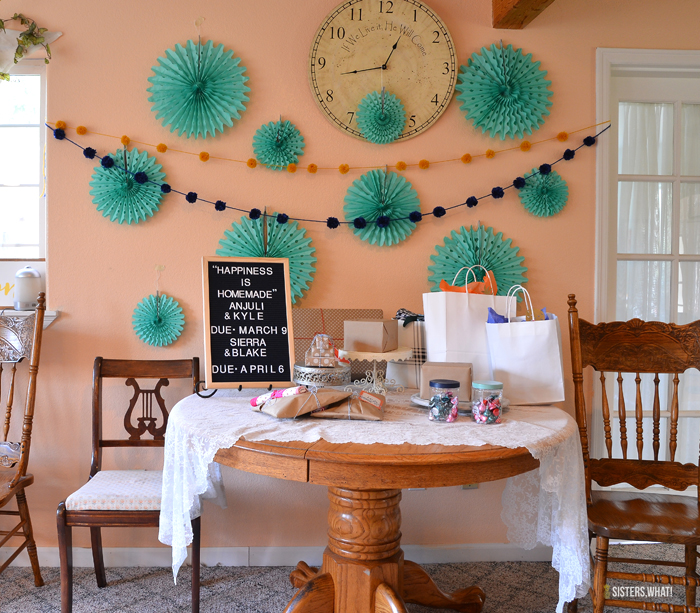 tissue paper fans for baby shower decorations
