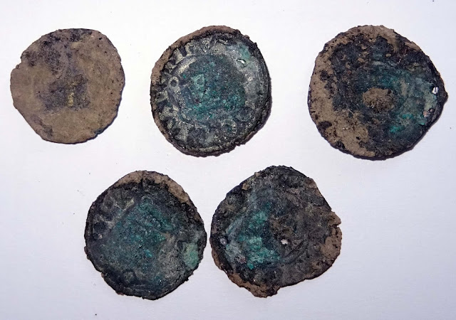 Silver tornese coins from Principality of Achaea found in Bulgaria's Rusocastro fortress