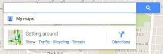 شريط البحث على خرائط جوجل