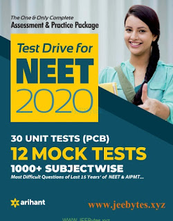 Test Drive For NEET 2020: 30 Unit Tests(PCB) 12 Mock Tests
