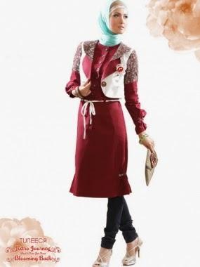 Contoh Model Baju Muslim Kantor Modern