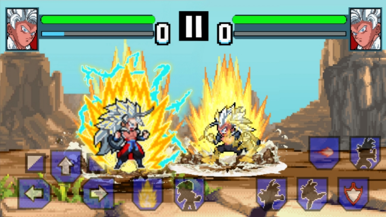 Goku SSJ5 Vs Vegeta SSJ5
