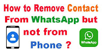 Remove Contact from WhatsApp but not from Phone