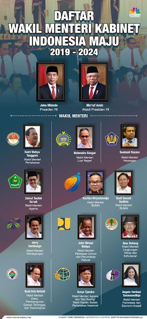 Ini Loh Profil Singkat 12 Wakil Menteri Kabinet Indonesia Maju