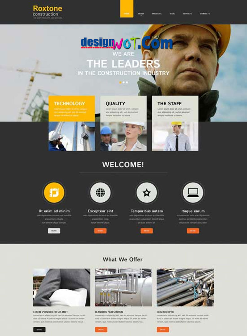 ROXTONE Responsive HTML WordPress Template
