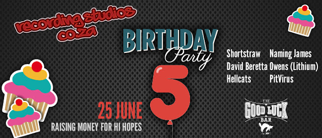 Recording Studios 5th Birthday 25 June #Charity Event #HearYeeChallenge @HiHopes_