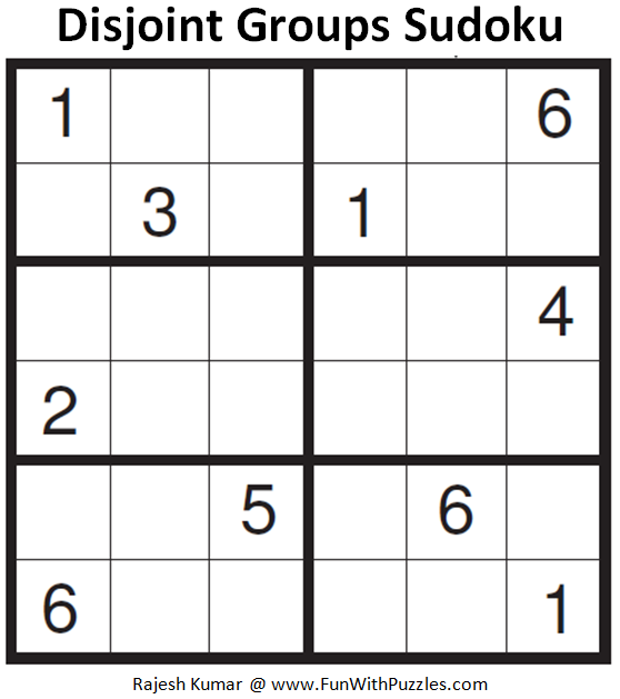 Disjoint Groups Sudoku (Mini Sudoku Series #84)