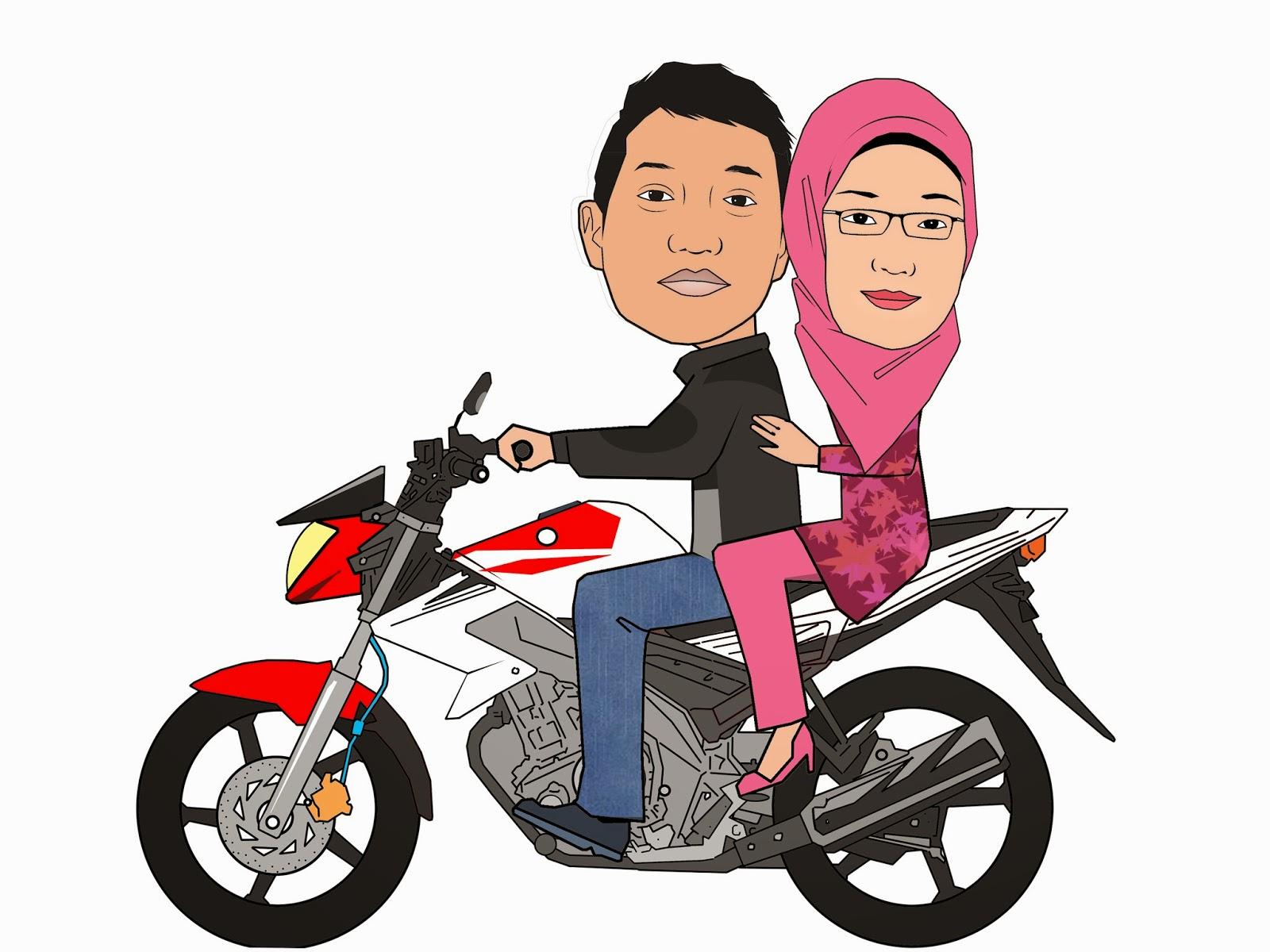 Gambar Kartun Naik Sepeda Motor Galeriotto