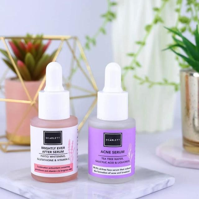 manfaat scarlett acne serum warna ungu