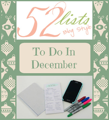 52 Lists #48 - To Do in December on Homeschool Coffee Break @ kympossibleblog.blogspot.com