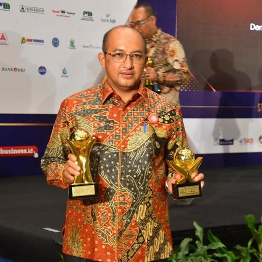 Capaian Kinerja Berbuah Penghargaan, Perumda Air Minum Kota Padang Pemenang Top BUMD Awards 2020