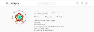 Instagram resmi SMAPAN BUNTARA