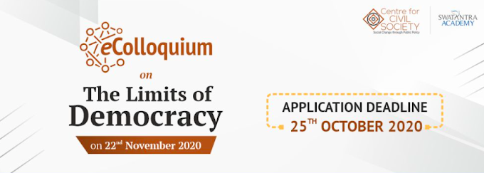 CCS' eColloquium on The Limits of Democracy [November 22]: Apply by October 25