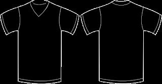 Kaos Polos Hitam Depan Belakang