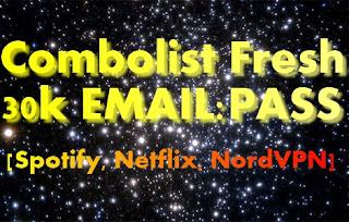 Combolist Fresh 30k EMAIL:PASS  [Spotify, Netflix, NordVPN]