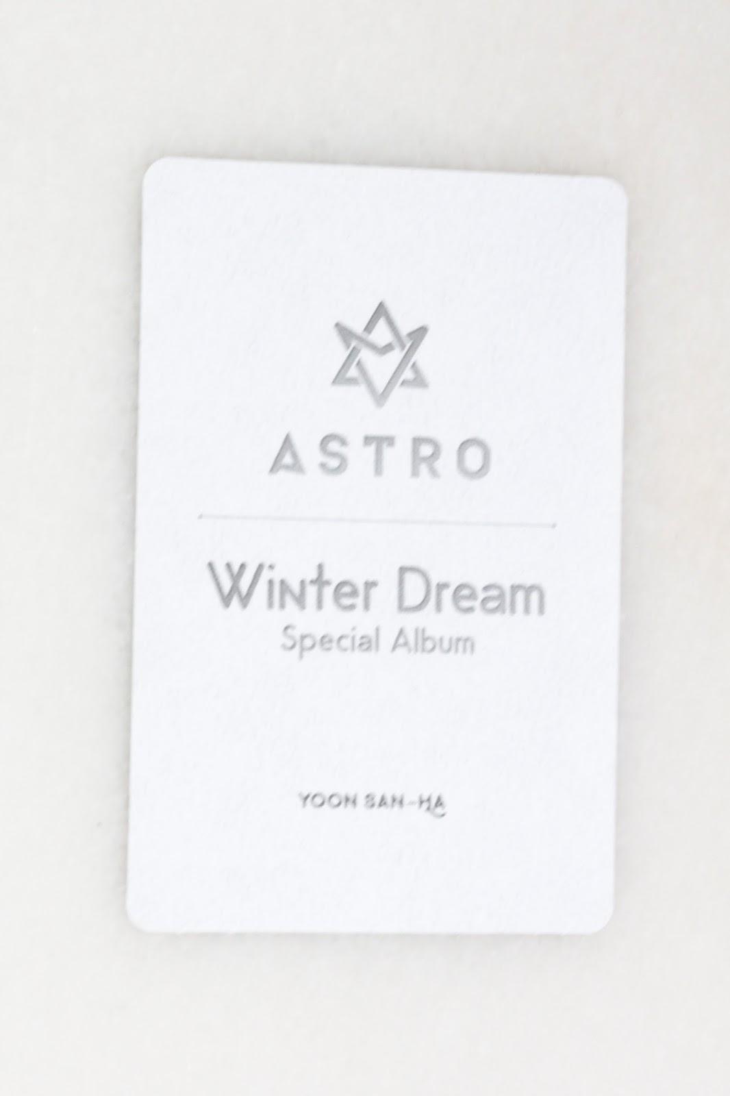 kpop scans: Sanha ( Astro ) - winter dream photocard
