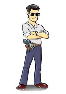mascote de policial civil