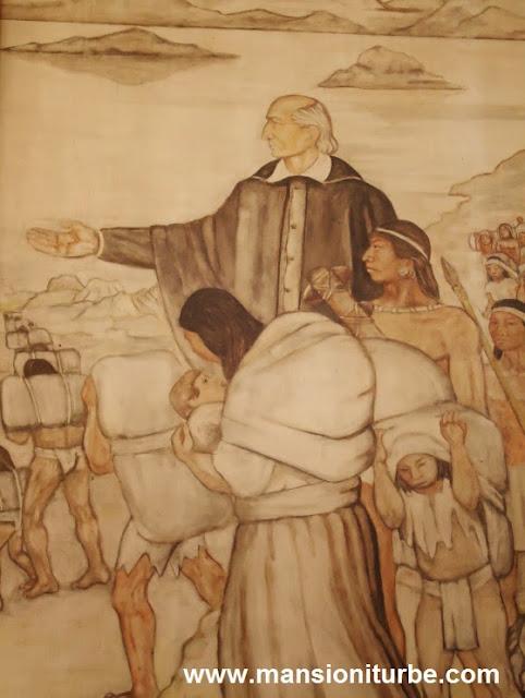 Mural en honor de Vasco de Quiroga, locallizado en Pátzcuaro, Michoacán