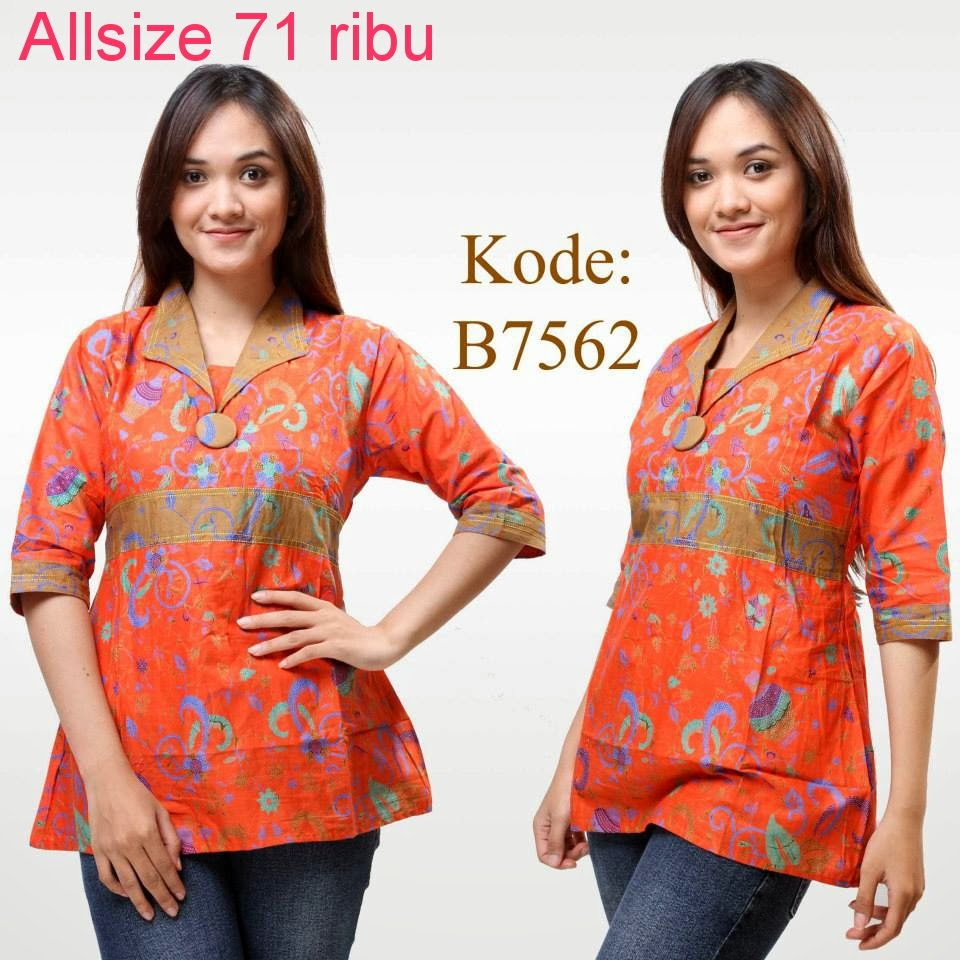 Model Baju Atasan Batik Wanita: Model Baju Atasan Batik Wanita Modern