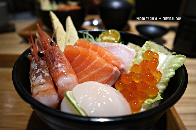 IMG 8284 - 台中北屯│丼丼亭*丼飯咖哩飯生魚片與沙拉。午間限定套餐更便宜喔