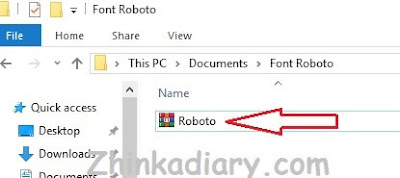 Cara install font di Windows