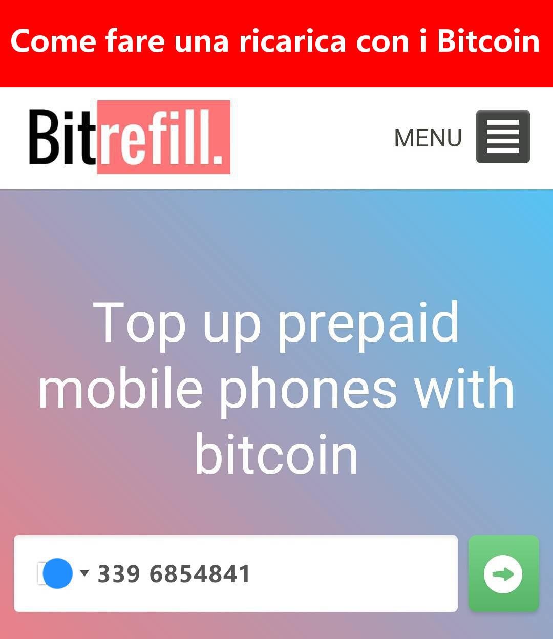 Come ricaricare il telefono con i Bitcoin